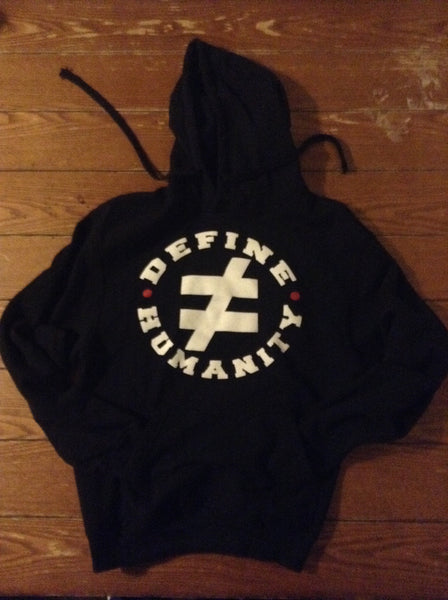 I Define Humanity Pullover Hooded Sweatshirt - Black