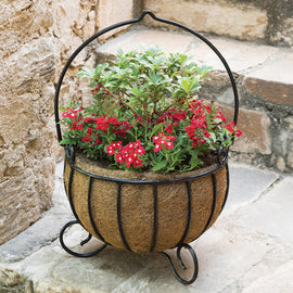 Cauldron Planters - Large (with Coco-liners)