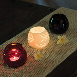 Decorative Glass Votive Candle Holder (Set of 3)