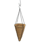 Conical Hanging Baskets ~ With Coco Liners (Set of 2)