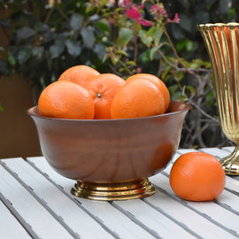 Teak Wooden Fruit Bowl Online