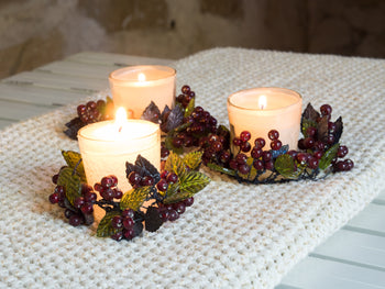 Wildberry Decorative Tea-Light Candle Holder (Set of 3)