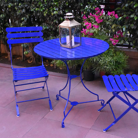 Sienna Dining Table & Set of 2 Chairs (Royal Blue)