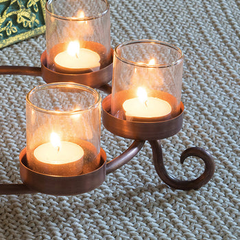 Scroll Tealight Candle Holder