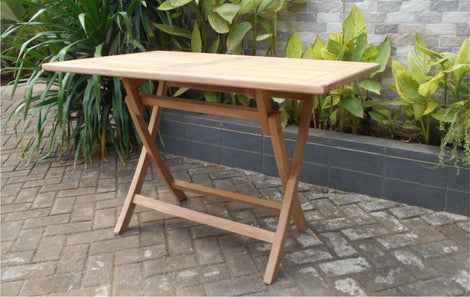 Teak Wood Rectangular Standing Table