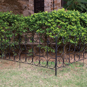 Fleur - de - Lys Steel Edger/ Victorian Fence (Set of 2)