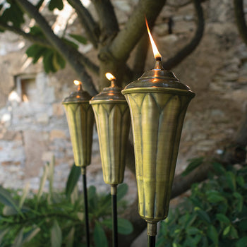 Lotus Oil Lamp Stake (Set of 2 pieces)