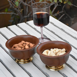 Teak Wood Nibble Bowl Online (Set of 2)