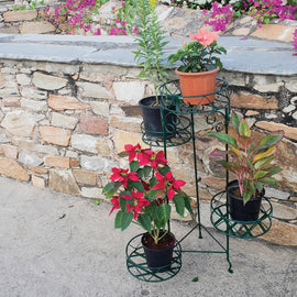 Pivoting Plant Stand 4 Pots Holder Online