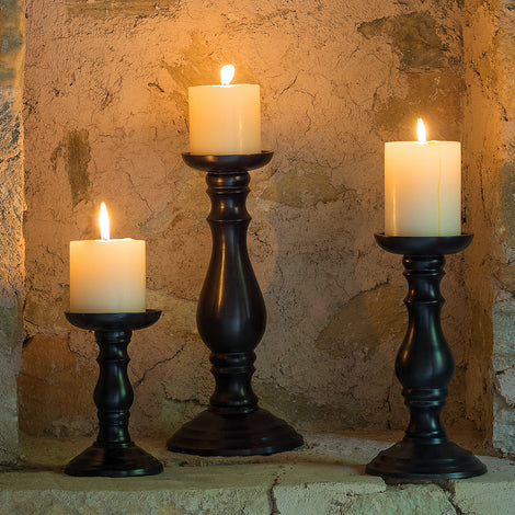 Traditional Candle Holder Set of 3