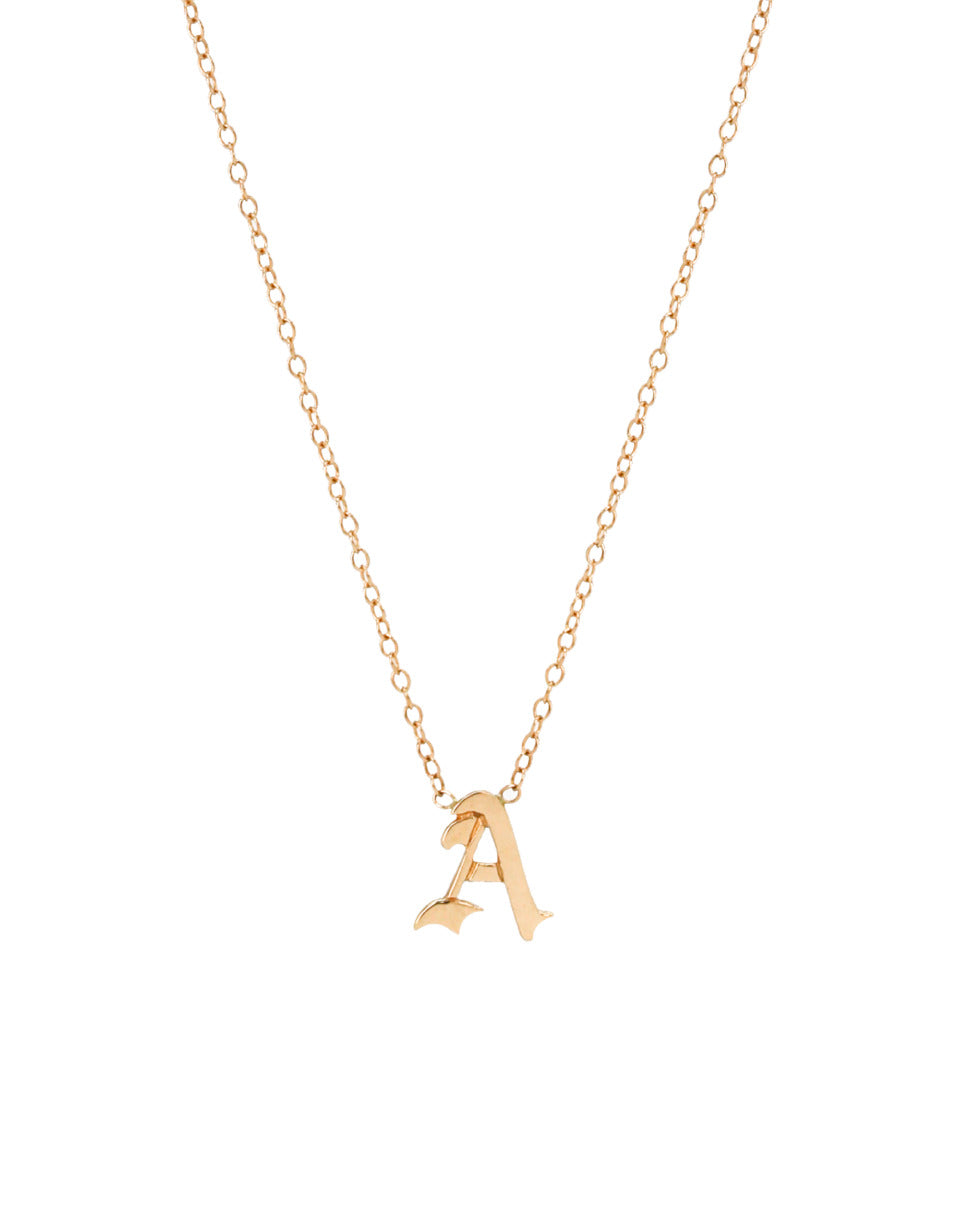 SAMPLE SALE 14K Yellow Gold Old English letter A