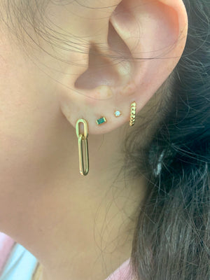 14K Gold Large Paper Clip Earrings