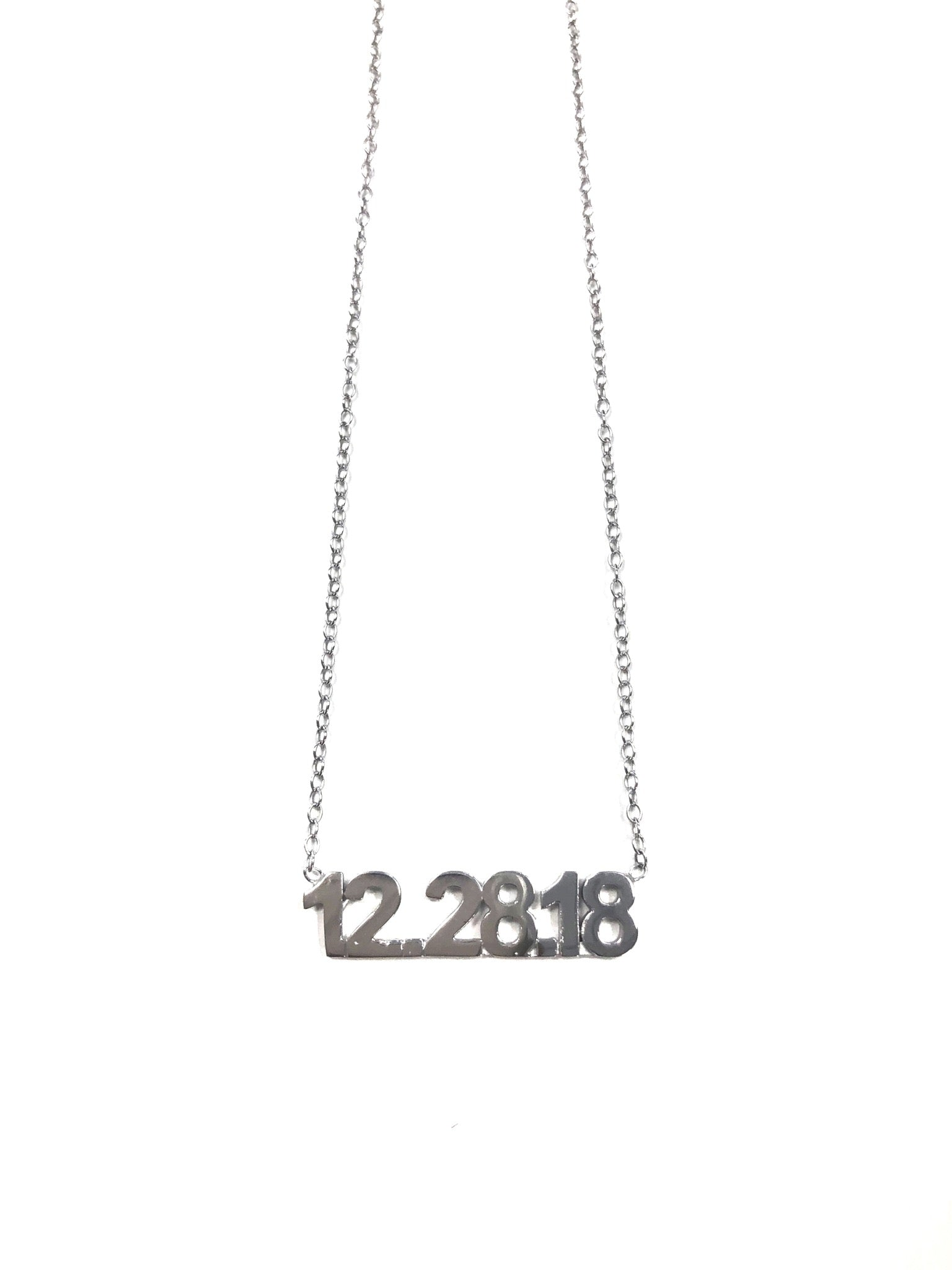 10K Gold Date Necklace