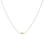 14K Gold Lightning Bolt Necklace