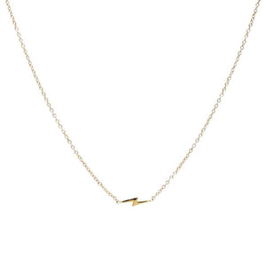 Lightning Bolt Necklace, 14K Gold