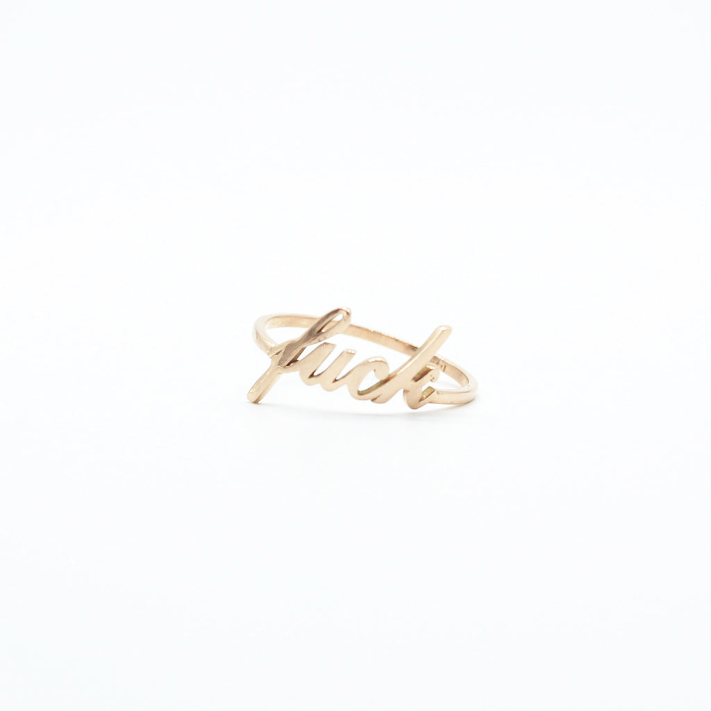 14K Gold Fuck Ring