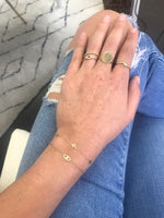 14K Gold Five Star Bracelet