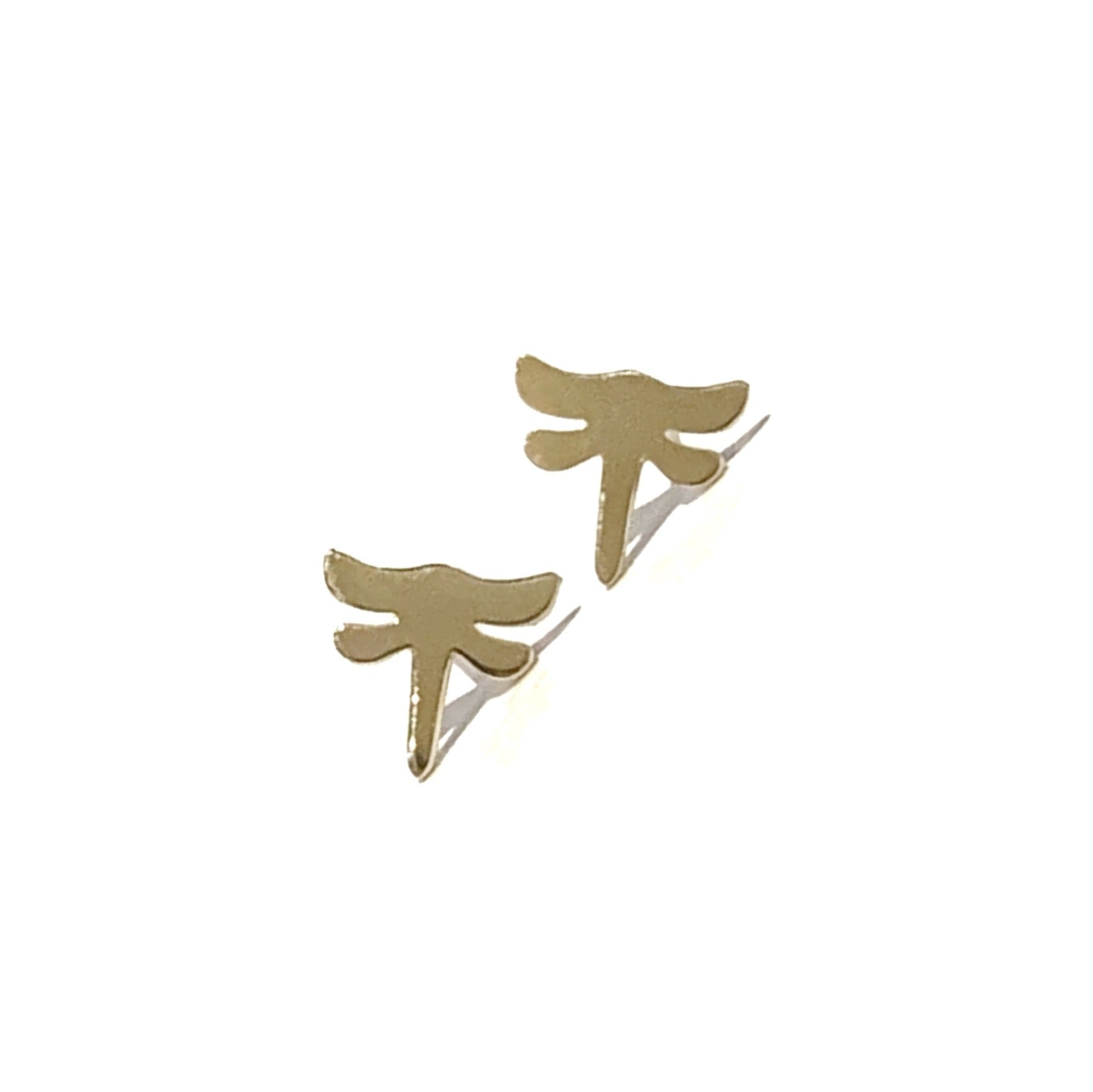 14K Gold Dragonfly Earrings
