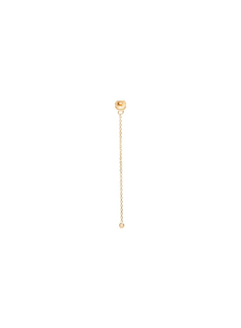 FINAL SALE 14K Gold Chain Diamond Earring Back