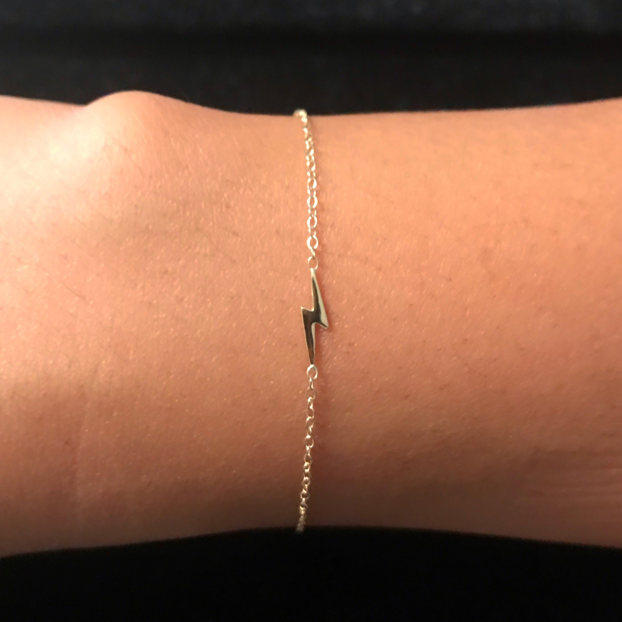 14K Gold Lightning Bolt Bracelet