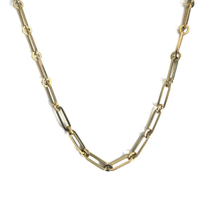 14K Yellow Gold Large Link Necklace