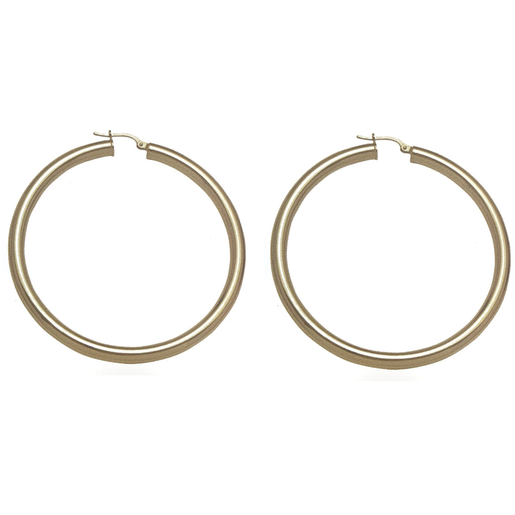 SAMPLE SALE 10K Gold Extra Large Thick Hoops
