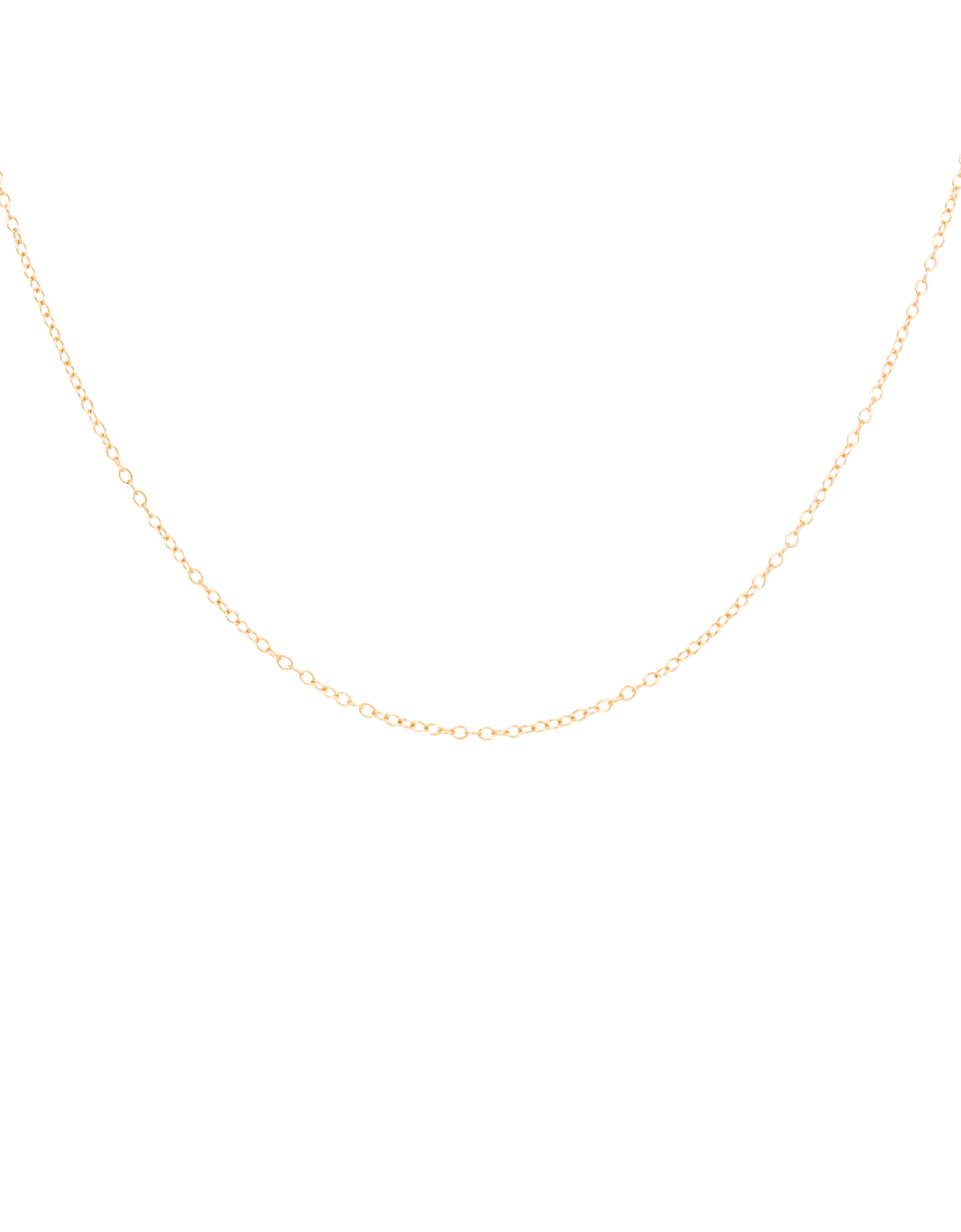 14K Long Cable Chain