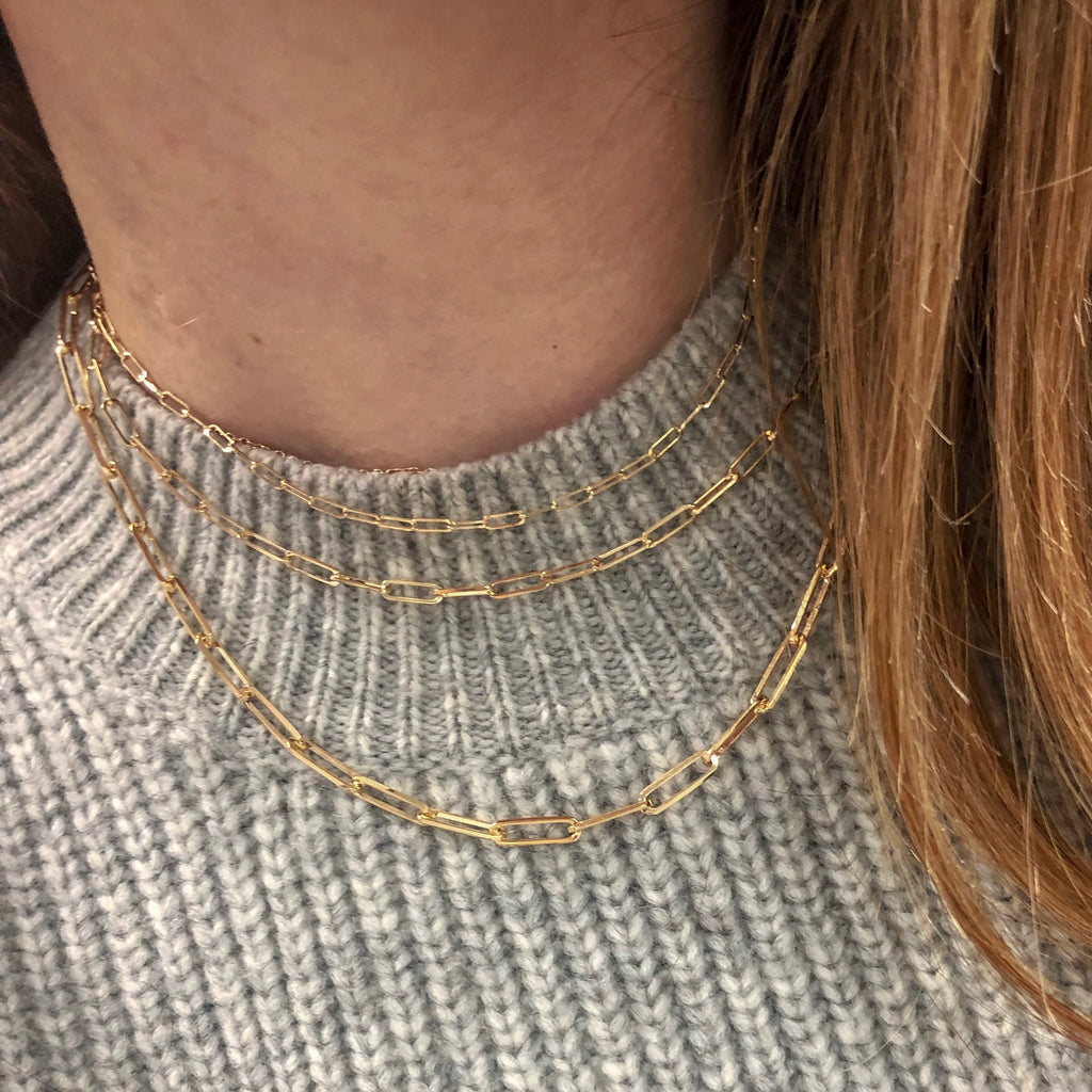 Large Paper Clip Necklace