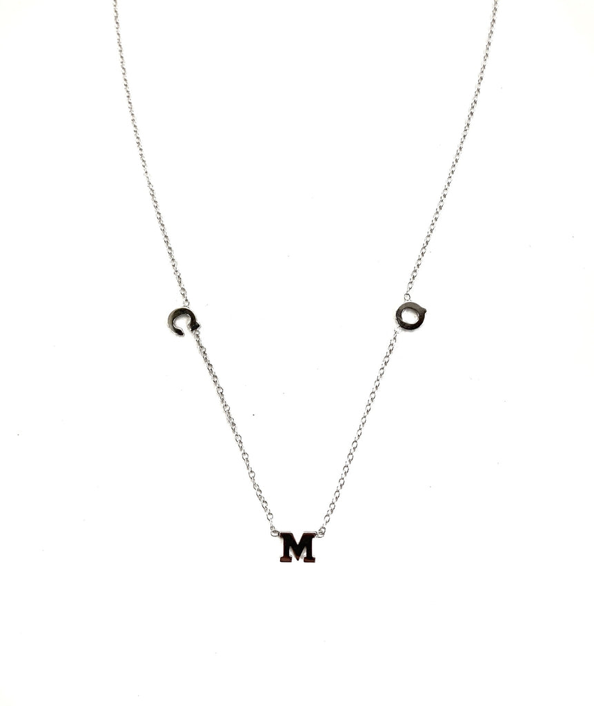 Three Drop Initial Necklace