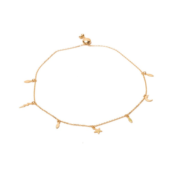 FINAL SALE 14K Yellow Gold Drop Bracelet