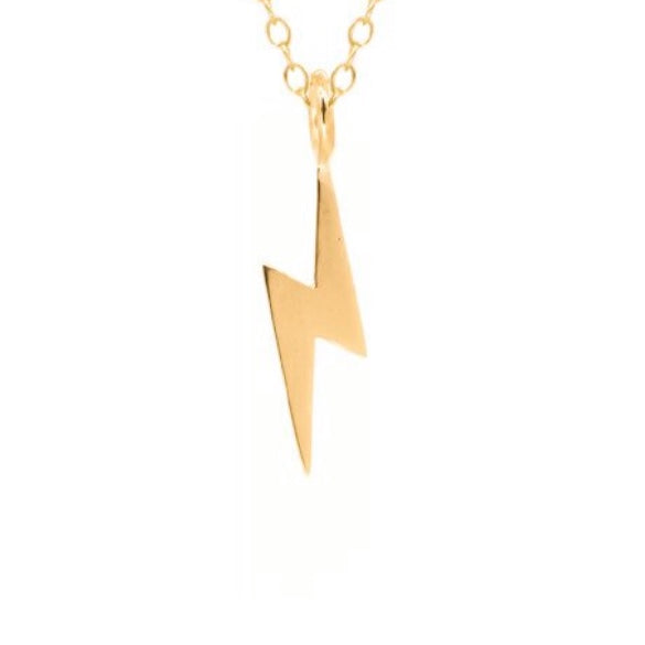 14K Gold Lightning Bolt Charm