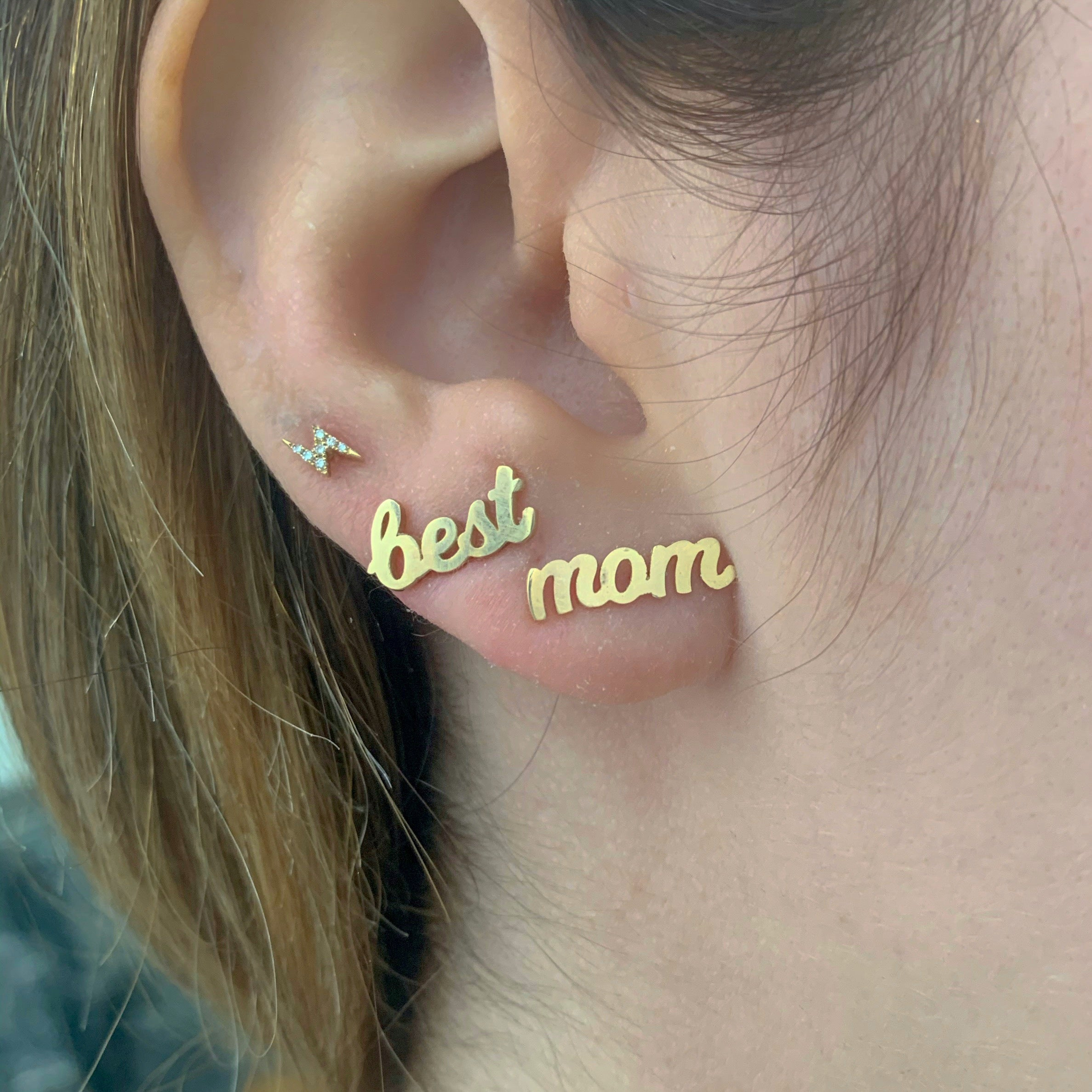 SAMPLE SALE 14K Gold Catchphrase Earring