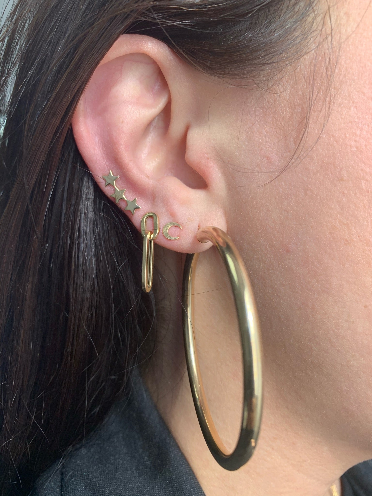 10K Gold Extra Large Thick Hoops