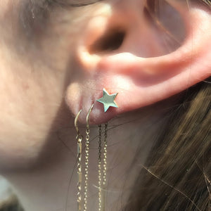 14K Star Stud Pair of Earrings