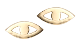 SAMPLE SALE 14K Evil Eye Earrings