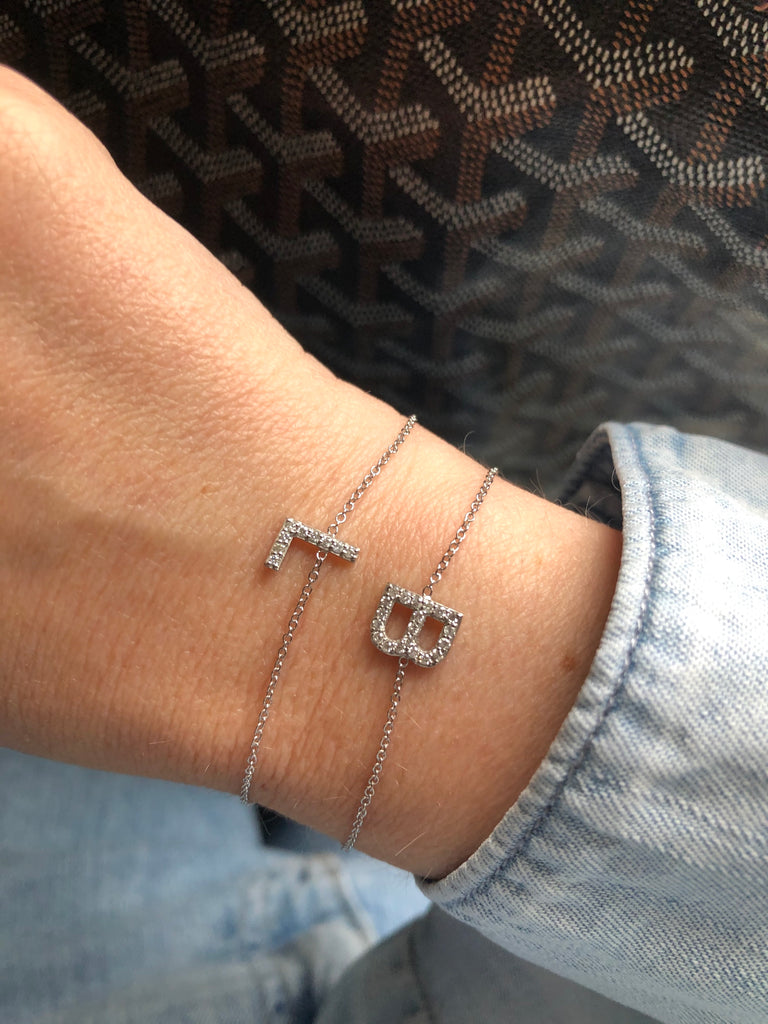 One Initial Diamond Bracelet