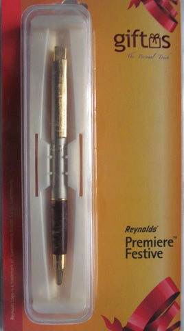 Reynolds Premiere Festive Ball Pen - Blue