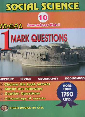 10 Ideal 1 Mark Questions Social Science