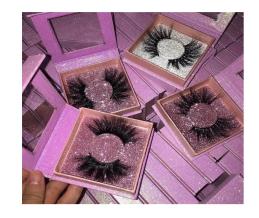 CUSTOMIZABLE PREMIER SQUARE LASH BOX - MQO 50 PCS