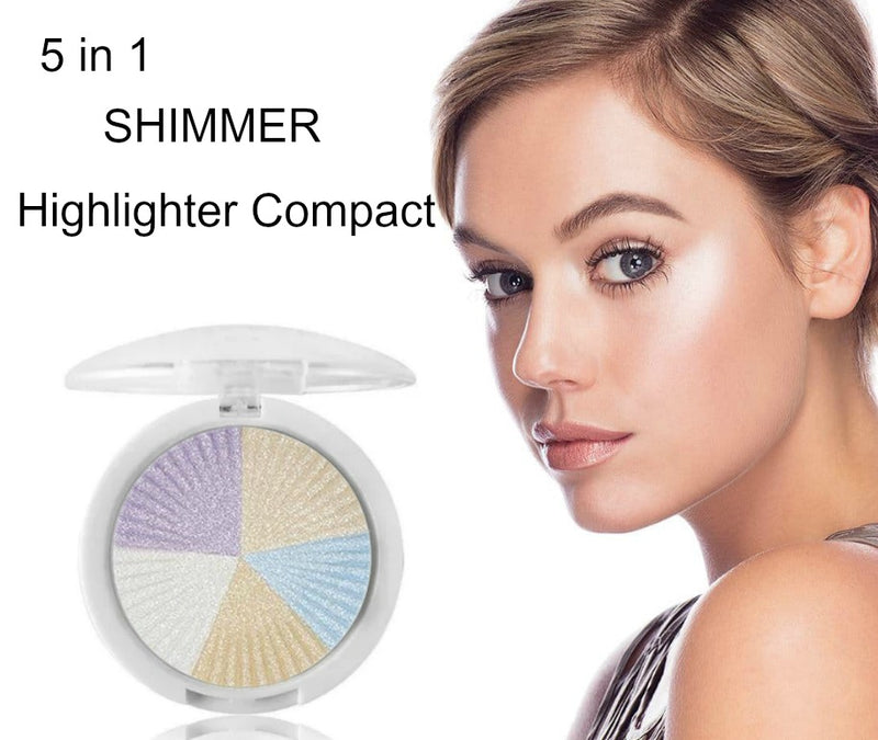 5 in 1 Shimmer Highlighter Compact - MQO 50 pcs