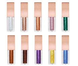 "Our brilliantly long-wearing Liquid Glitter Eyeshadows sparkle and shine with the perfect mix of pearl and glitter to lavish eyes with incredible luster and shimmer.  This lightweight, water-infused formula glides on effortlessly, then dries down smoothly, locking in maximum sparkle with minimal fallout. Give your eyes that ""wow"" factor!    Can be hot stamped with your logo! Inquire at info@tashcosmetics.com"
