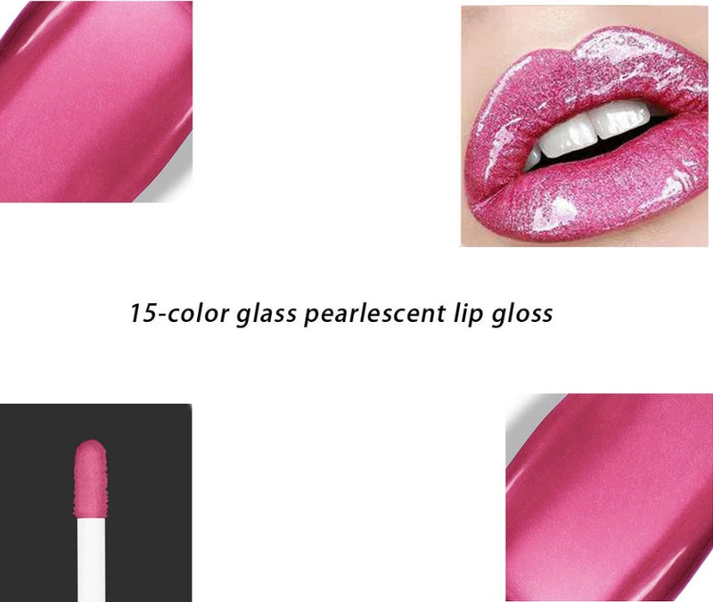 Pearlescent Lip Gloss - MQO 12 pcs