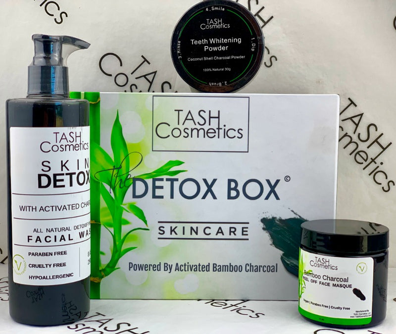 This Charcoal Detox Skin Care Box is a 3 piece FULL SIZE  kit that your skin needs for ongoing clarity, balance and detoxification. The products are designed to work together to clean, treat and detoxify skin will preventing blemishes, and improving overall skin tone and texture. We have also included in this Beauty Box, Our Charcoal Teeth Whitening Powder because we feel that pearly whites should be apart of your self care routine!  Almost sold out!