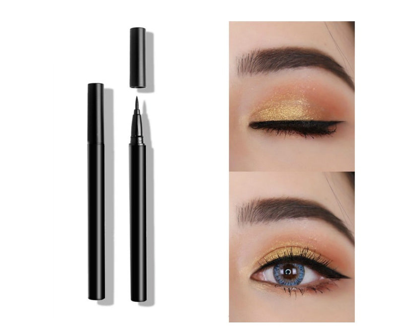 Complete the look of the seductive eye with this innovative liquid eyeliner. Formulated in the blackest shade of black, it delivers ultimate in precision and makes fluid strokes easy to achieve. Featuring a thin precision brush tip that easily creates detailed lines to bold dramatic lines for the perfect cat eye and other dramatic eye looks.