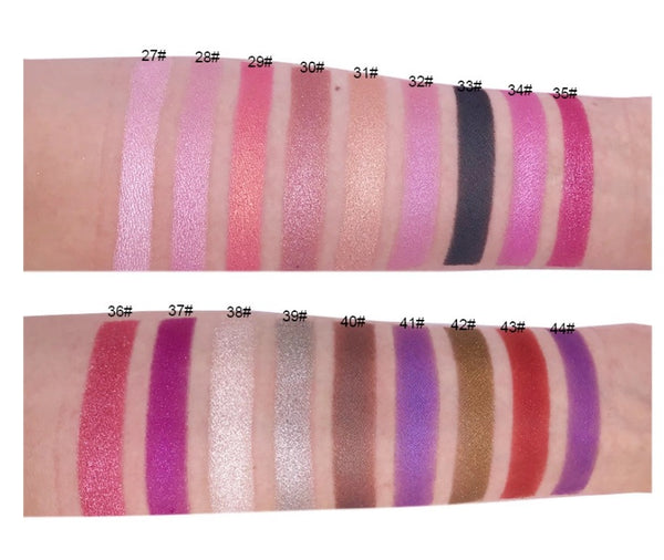 High Pigment Fine Glittery Eyeshadows - MQO 12pcs