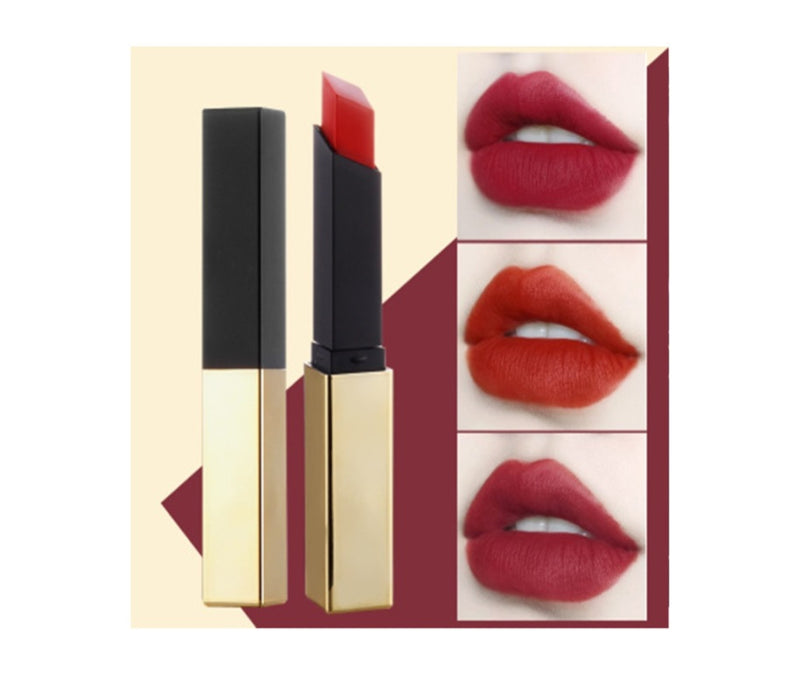 Silky Moisturizing Lipstick w/Gold and Black Case - MQO 12 pcs