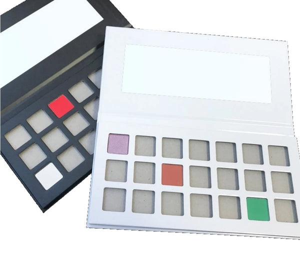Dream it, Create it, Make it your own!  Create your very own 21 Shade DIY Private Label Eyeshadow Palette! Choose from the following palettes and shades and email us your shade choices!    Ask us about hot stamping your logo to your new creation. (mqo requirement is 50 pcs for hot stamping)  Info@tashcosmetics.com