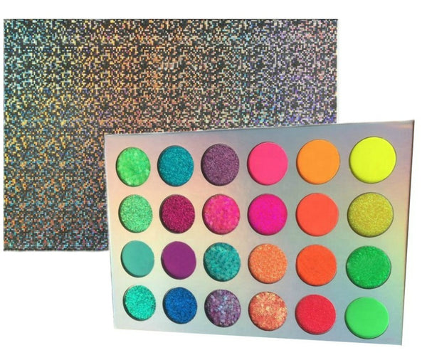 Neon Glow In The Dark 24 Shade Palette MQO - 50 pcs