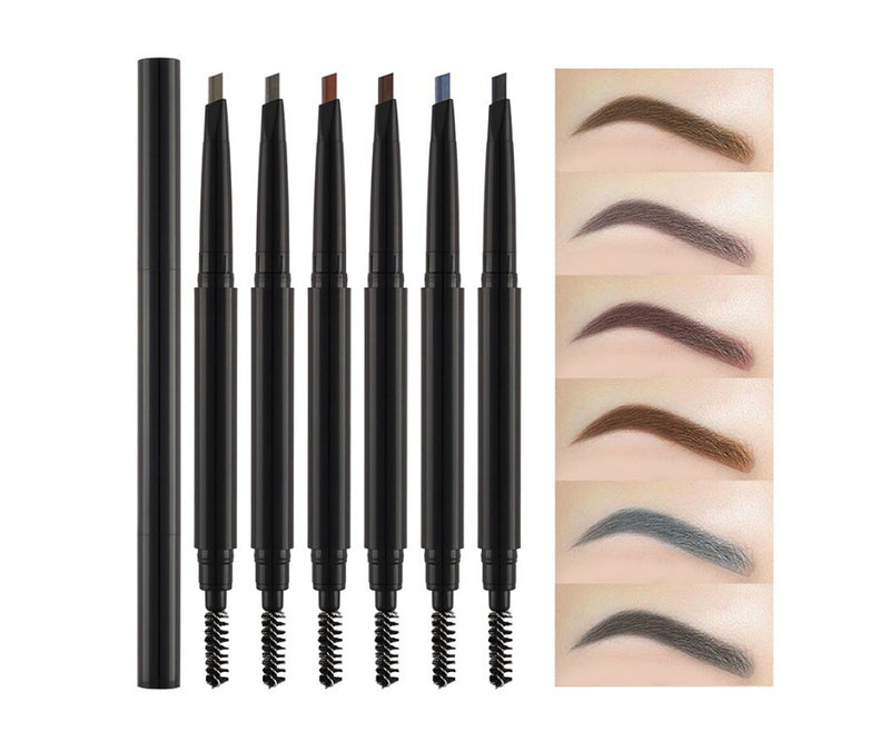Pick Your Color - Pick Your Case! Eyebrow Pencil w/Spoolie Brush - MQO 12pcs