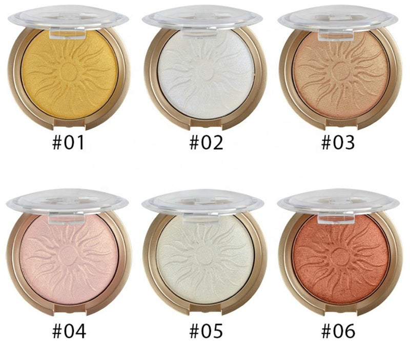 Pressed Shimmer Pigment Highlighters - MQO 12 pcs